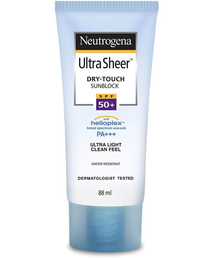 Neutrogena Ultra Sheer Dry Touch Sunblock, SPF 50, 88ml