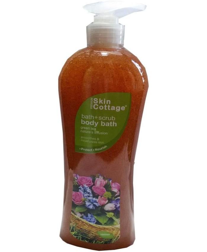 Skin Cottage Bath + Scrub Baby Bath Green Tea, 1000ml