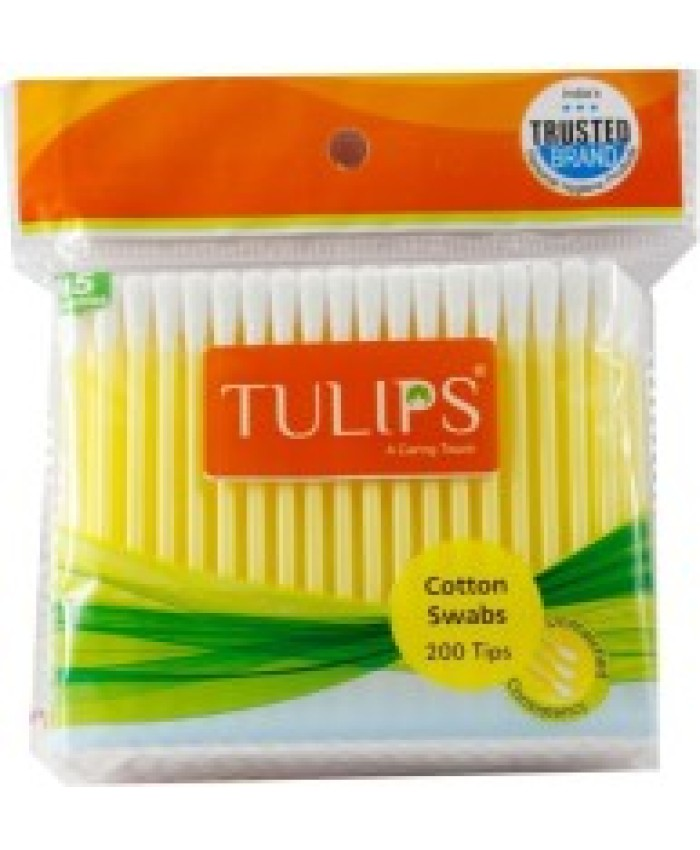 Tulips Cotton Buds In A Zip Bag