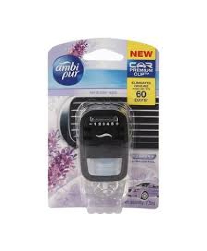 Ambi Pur Lavender Spa Car Vent Air Freshener Starter Kit, 7.5 ml