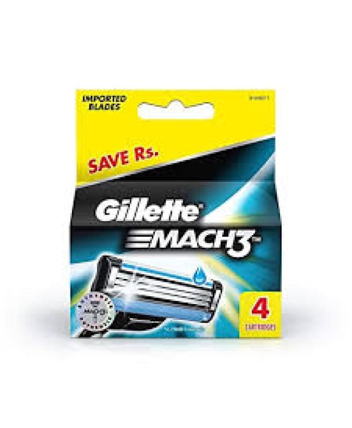Gillette Mach 3 Cartridge  4Pc
