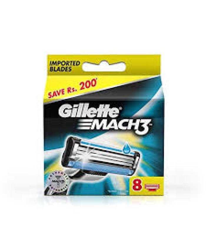 Gillette Mach 3 Cartridge  8Pc