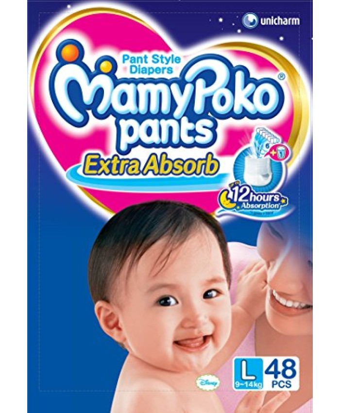 Mamy Poko Pant Style Large Size Diapers (48 Count)