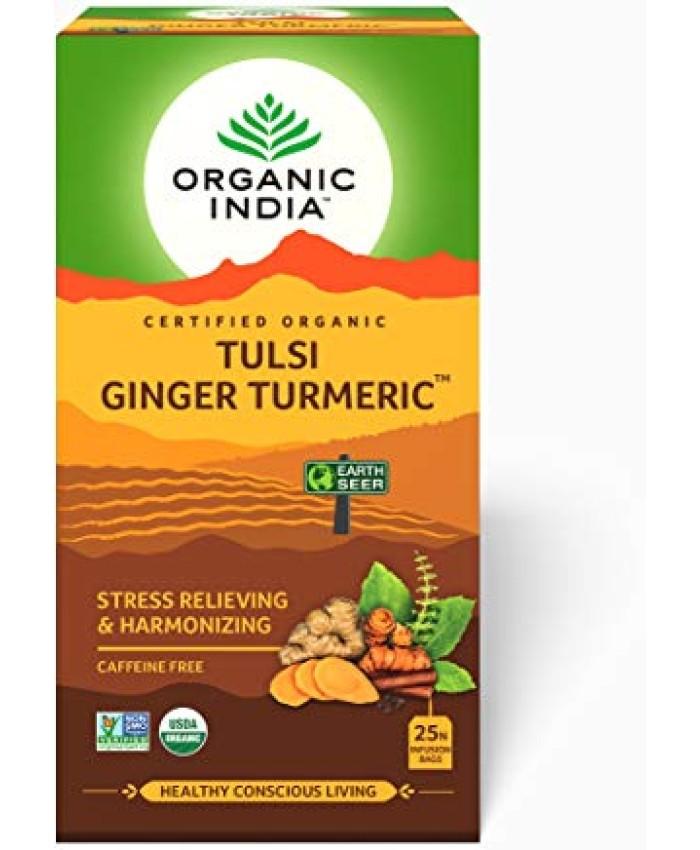 Organic India Tulsi Ginger Turmeric Tea Bags-25