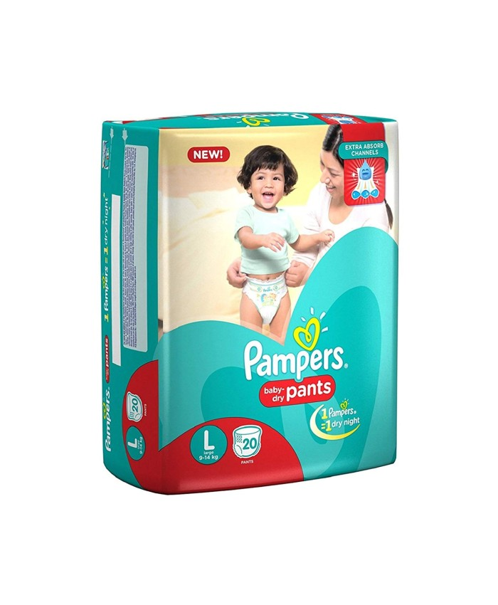 Pampers New Large Size Diapers Pants (20 Count)
