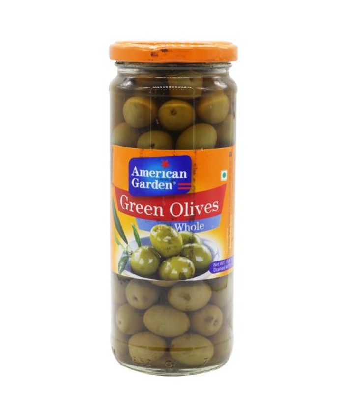 American Garden Olives Green Whole -450 gm