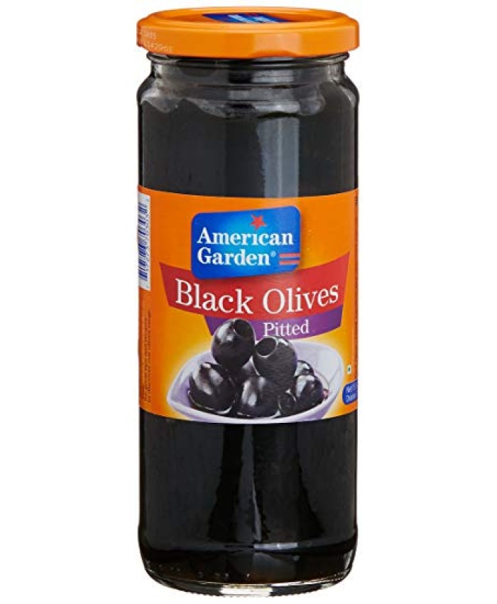 American Garden Olives Pitted Black -450 gm