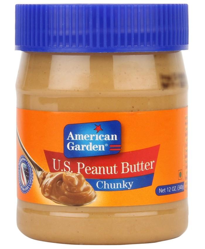 American Garden U.S. Peanut Butter Chunky -340 gm