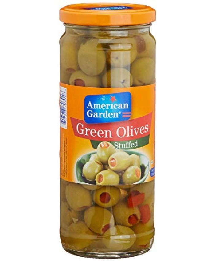 American Garden Olives Green Stuffed -450 gm