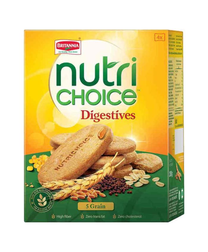 Britannia Nutri Choice - 5 Grain Biscuits 200 gm