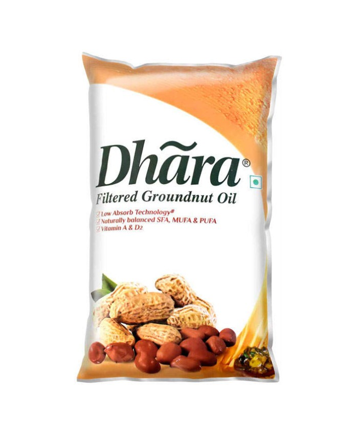 Dhara Filtered Groundnut Oil : 1 Litre