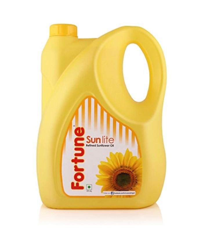 Fortune Sunlite Refined Sunflower Oil 5 Ltr