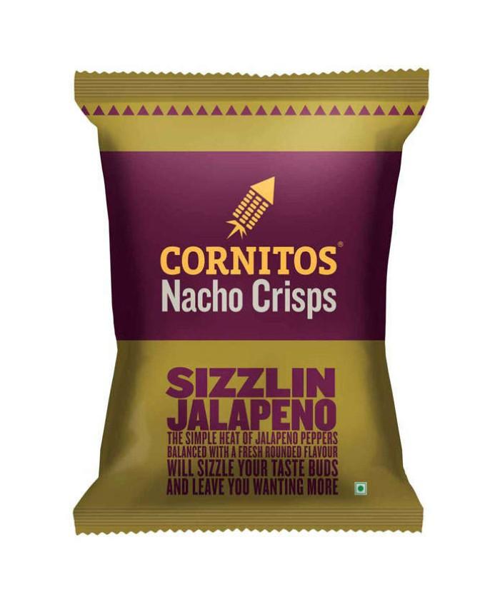 Cornitos Nacho Crisps Sizzlin Jalapeno 60 gm