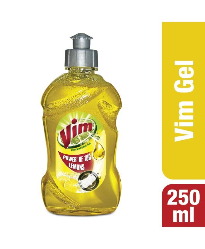 Vim Drop Dish Gel Yellow  250 ml