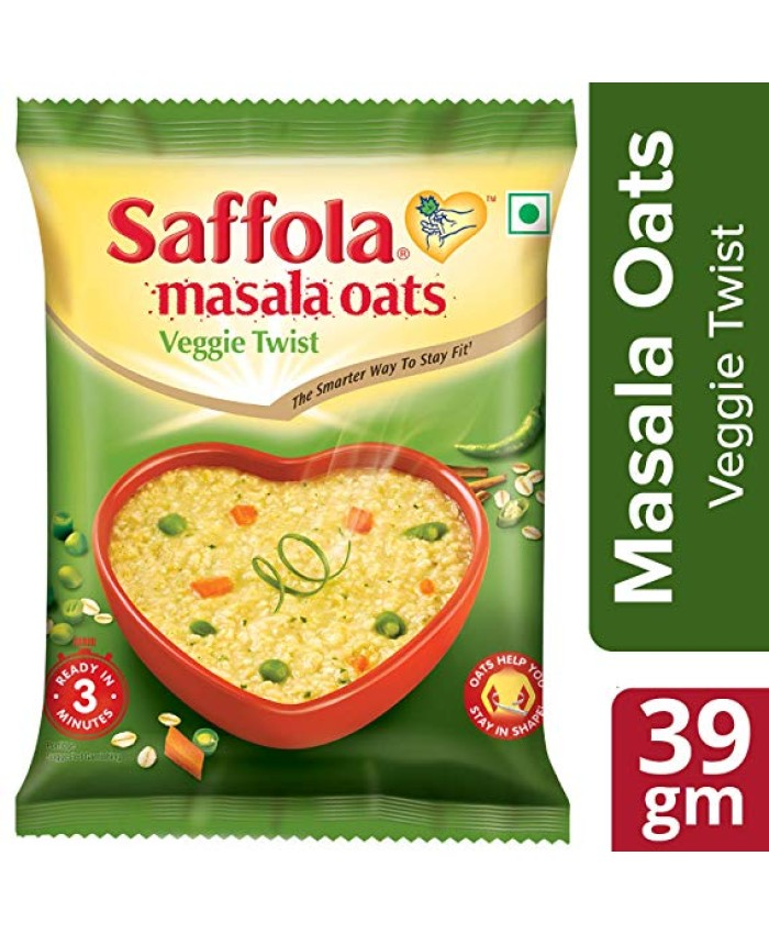 Saffola Masala Oats, Veggie Twist, 39g